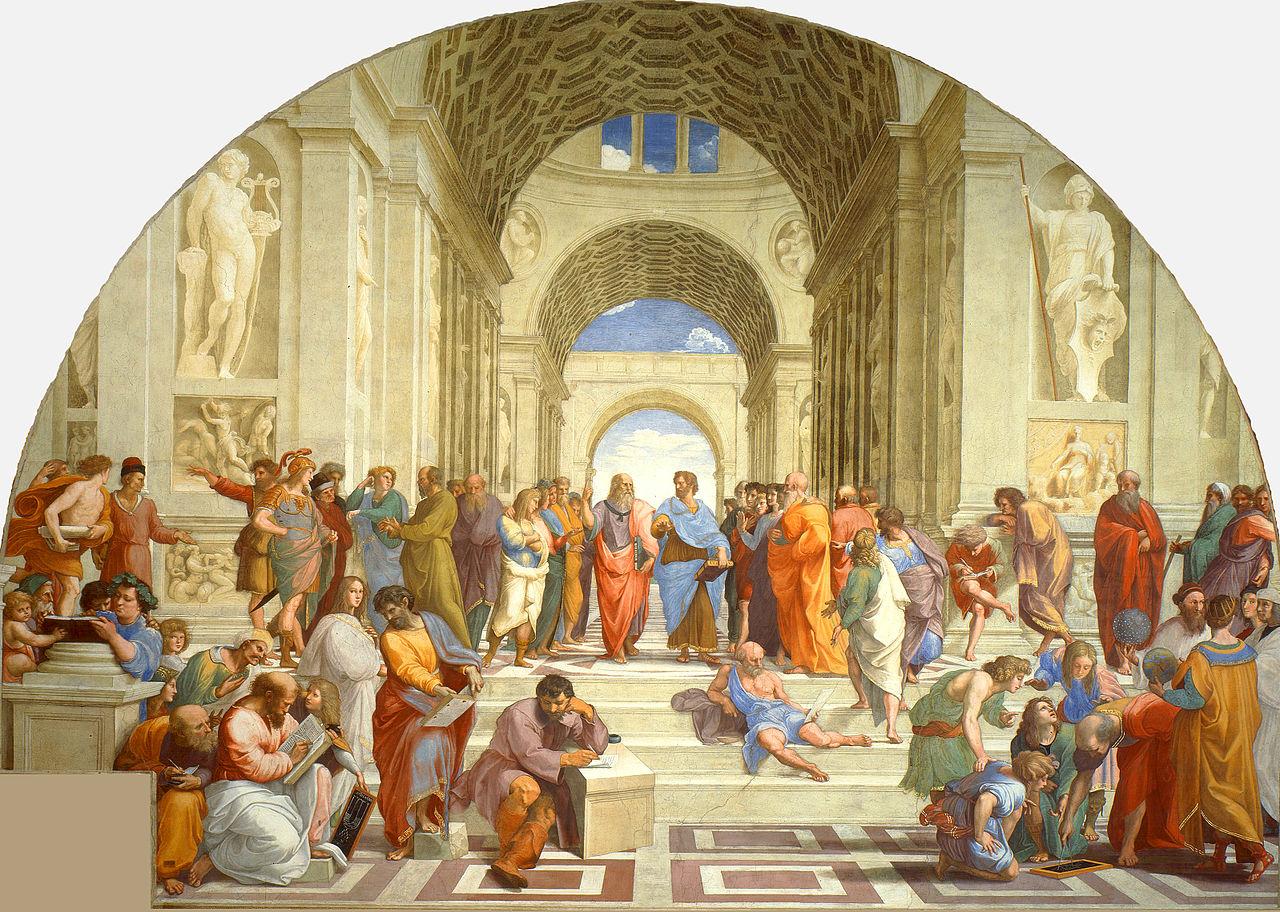 """""""La escuela de Atenas"""" de Rafael"""