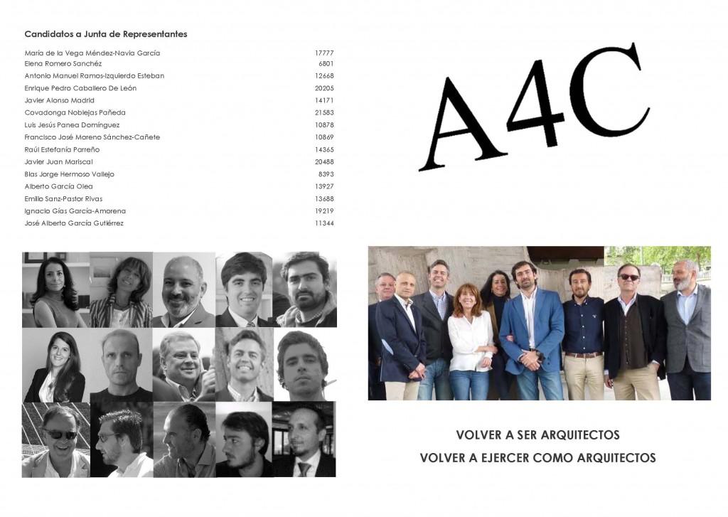 A4C 2017 candidatos